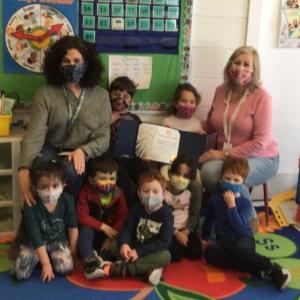 Preschoolers at Temple Beth Ahm Yisrael in Springfield